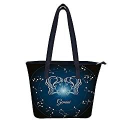 Gemini Gifts: Women's PU Leather Tote Gemini