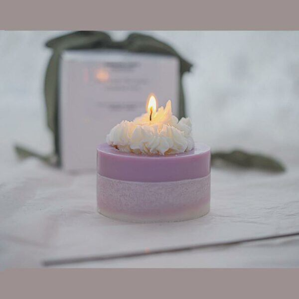 Lavender Cake Candle
