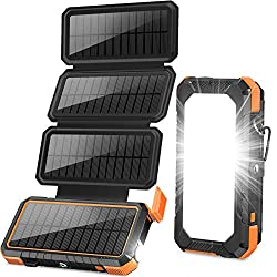 Outdoor Power Bank: Solar Charger with Foldable Panels