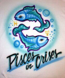 Pisces Airbrush T-Shirt