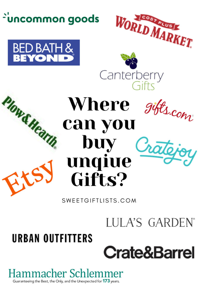 Where can you buy unique gifts