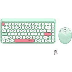 Green Mini Compact Retro Typewriter Design Laptop Keyboards