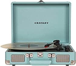 Vintage 3-Speed Bluetooth Suitcase Turntable